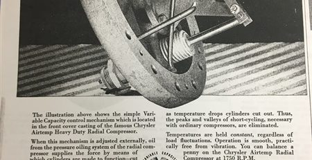 Article The Chrysler Airtemp Radial Compressor
